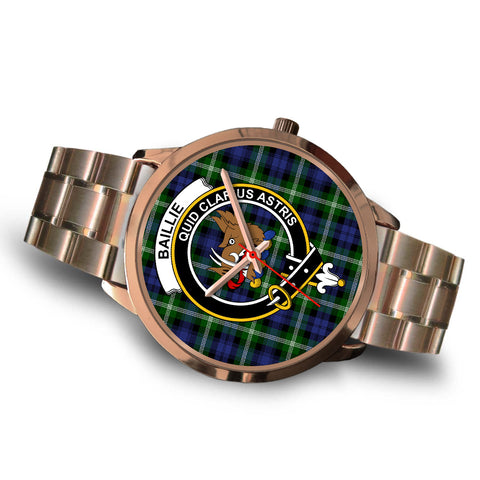 Image of Baillie Modern, Brown Leather Watch,  leather steel watch, tartan watch, tartan watches, clan watch, scotland watch, merry christmas, cyber Monday, halloween, black Friday
