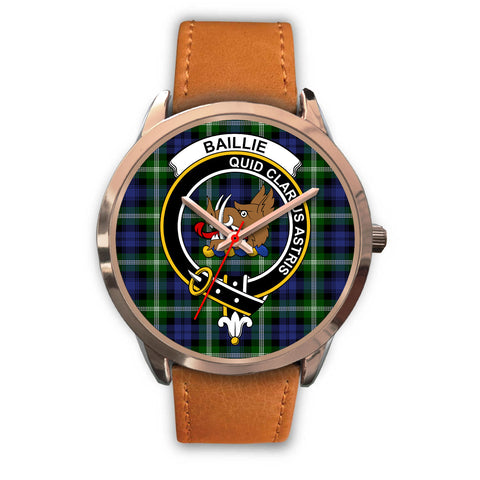 Image of Baillie Modern, Pink Leather Watch,  leather steel watch, tartan watch, tartan watches, clan watch, scotland watch, merry christmas, cyber Monday, halloween, black Friday