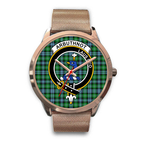 Arbuthnott, Black Leather Watch,  leather steel watch, tartan watch, tartan watches, clan watch, scotland watch, merry christmas, cyber Monday, halloween, black Friday