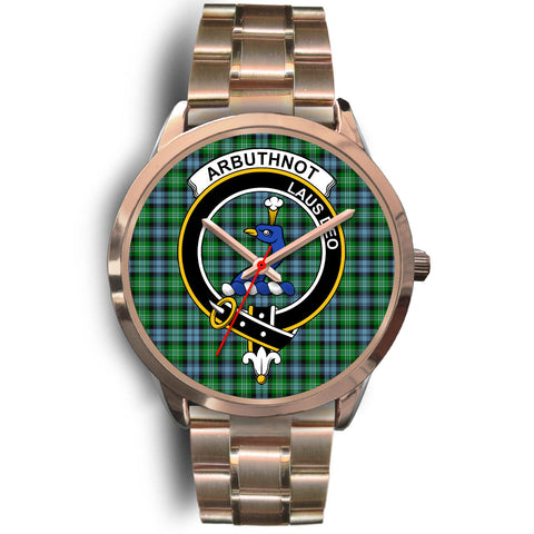 Arbuthnott, Rose Gold Metal Link Watch,  leather steel watch, tartan watch, tartan watches, clan watch, scotland watch, merry christmas, cyber Monday, halloween, black Friday