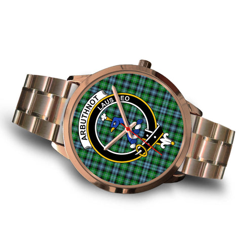 Arbuthnott, Brown Leather Watch,  leather steel watch, tartan watch, tartan watches, clan watch, scotland watch, merry christmas, cyber Monday, halloween, black Friday