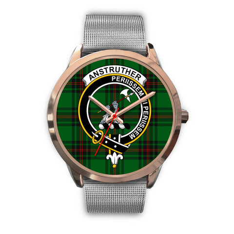 Anstruther, Rose Gold Metal Link Watch,  leather steel watch, tartan watch, tartan watches, clan watch, scotland watch, merry christmas, cyber Monday, halloween, black Friday