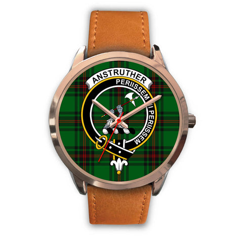 Anstruther, Pink Leather Watch,  leather steel watch, tartan watch, tartan watches, clan watch, scotland watch, merry christmas, cyber Monday, halloween, black Friday