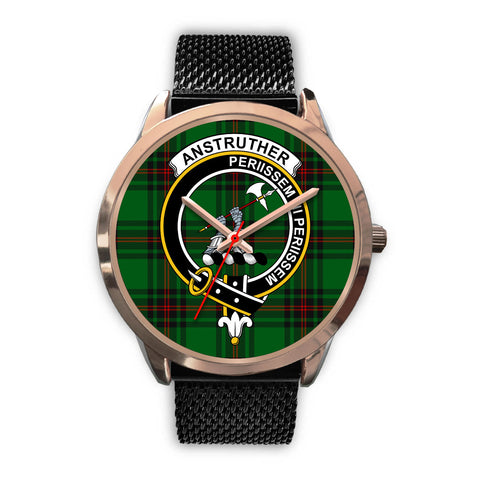 Anstruther, Silver Metal Link Watch,  leather steel watch, tartan watch, tartan watches, clan watch, scotland watch, merry christmas, cyber Monday, halloween, black Friday