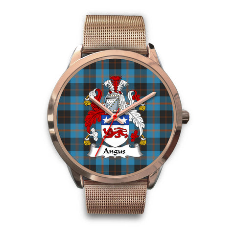 Angus Ancient, Black Leather Watch,  leather steel watch, tartan watch, tartan watches, clan watch, scotland watch, merry christmas, cyber Monday, halloween, black Friday