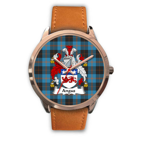 Angus Ancient, Pink Leather Watch,  leather steel watch, tartan watch, tartan watches, clan watch, scotland watch, merry christmas, cyber Monday, halloween, black Friday