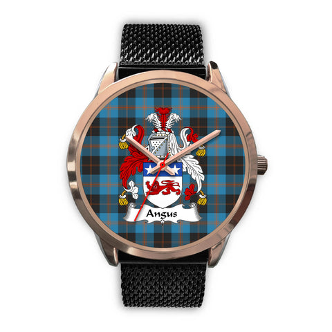 Angus Ancient, Silver Metal Link Watch,  leather steel watch, tartan watch, tartan watches, clan watch, scotland watch, merry christmas, cyber Monday, halloween, black Friday