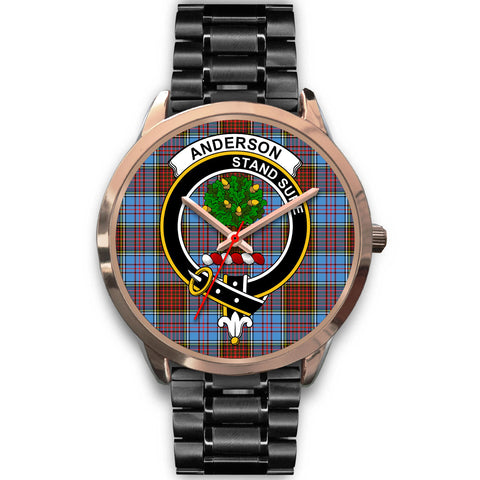 Anderson Modern, Rose Gold Metal Mesh Watch,  leather steel watch, tartan watch, tartan watches, clan watch, scotland watch, merry christmas, cyber Monday, halloween, black Friday
