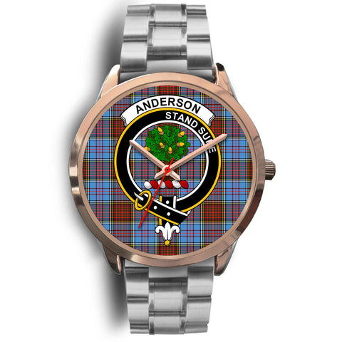 Anderson Modern, Brown Leather Watch,  leather steel watch, tartan watch, tartan watches, clan watch, scotland watch, merry christmas, cyber Monday, halloween, black Friday