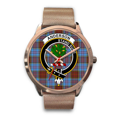 Anderson Modern, Black Leather Watch,  leather steel watch, tartan watch, tartan watches, clan watch, scotland watch, merry christmas, cyber Monday, halloween, black Friday