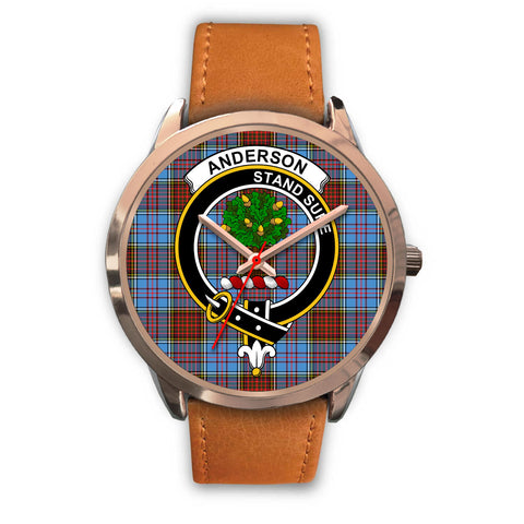 Anderson Modern, Pink Leather Watch,  leather steel watch, tartan watch, tartan watches, clan watch, scotland watch, merry christmas, cyber Monday, halloween, black Friday