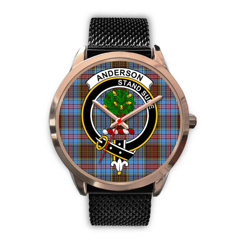 Anderson Modern, Silver Metal Link Watch,  leather steel watch, tartan watch, tartan watches, clan watch, scotland watch, merry christmas, cyber Monday, halloween, black Friday