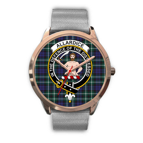 Allardice, Rose Gold Metal Link Watch,  leather steel watch, tartan watch, tartan watches, clan watch, scotland watch, merry christmas, cyber Monday, halloween, black Friday