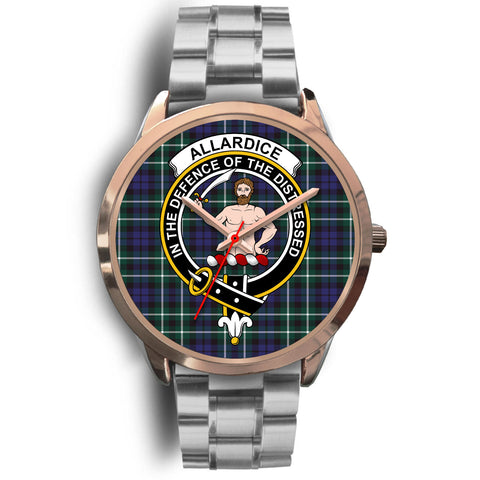 Allardice, Brown Leather Watch,  leather steel watch, tartan watch, tartan watches, clan watch, scotland watch, merry christmas, cyber Monday, halloween, black Friday