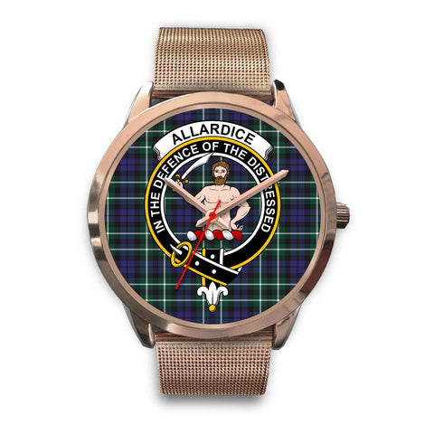 Allardice, Black Leather Watch,  leather steel watch, tartan watch, tartan watches, clan watch, scotland watch, merry christmas, cyber Monday, halloween, black Friday