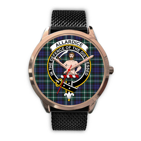 Allardice, Silver Metal Link Watch,  leather steel watch, tartan watch, tartan watches, clan watch, scotland watch, merry christmas, cyber Monday, halloween, black Friday