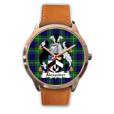 Alexander, Pink Leather Watch,  leather steel watch, tartan watch, tartan watches, clan watch, scotland watch, merry christmas, cyber Monday, halloween, black Friday