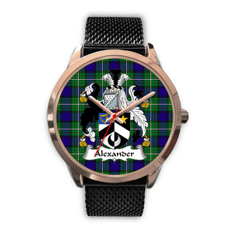 Alexander, Silver Metal Link Watch,  leather steel watch, tartan watch, tartan watches, clan watch, scotland watch, merry christmas, cyber Monday, halloween, black Friday