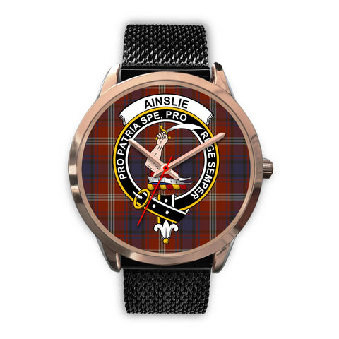 Ainslie, Silver Metal Link Watch,  leather steel watch, tartan watch, tartan watches, clan watch, scotland watch, merry christmas, cyber Monday, halloween, black Friday