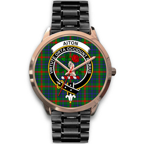 Aiton, Rose Gold Metal Mesh Watch,  leather steel watch, tartan watch, tartan watches, clan watch, scotland watch, merry christmas, cyber Monday, halloween, black Friday