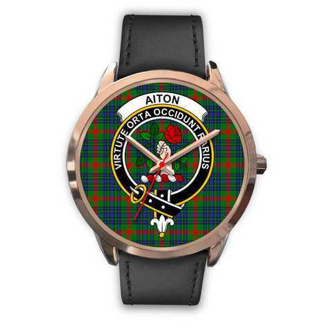 Aiton, Black Metal Mesh Watch,  leather steel watch, tartan watch, tartan watches, clan watch, scotland watch, merry christmas, cyber Monday, halloween, black Friday