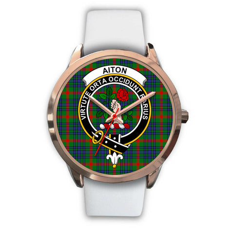 Aiton, Black Metal Link Watch,  leather steel watch, tartan watch, tartan watches, clan watch, scotland watch, merry christmas, cyber Monday, halloween, black Friday