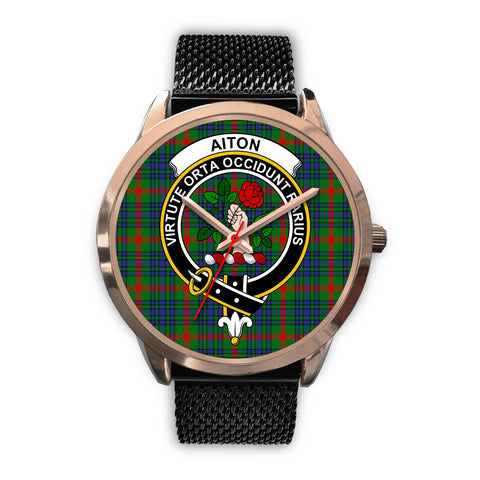 Aiton, Silver Metal Link Watch,  leather steel watch, tartan watch, tartan watches, clan watch, scotland watch, merry christmas, cyber Monday, halloween, black Friday