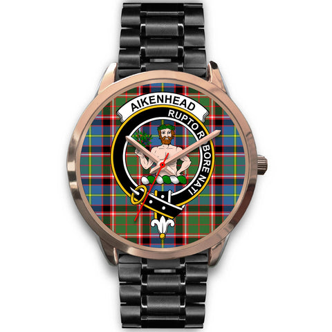 Aikenhead, Rose Gold Metal Mesh Watch,  leather steel watch, tartan watch, tartan watches, clan watch, scotland watch, merry christmas, cyber Monday, halloween, black Friday