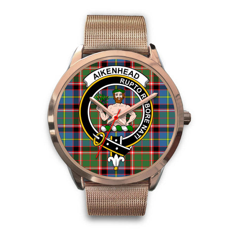 Aikenhead, Black Leather Watch,  leather steel watch, tartan watch, tartan watches, clan watch, scotland watch, merry christmas, cyber Monday, halloween, black Friday
