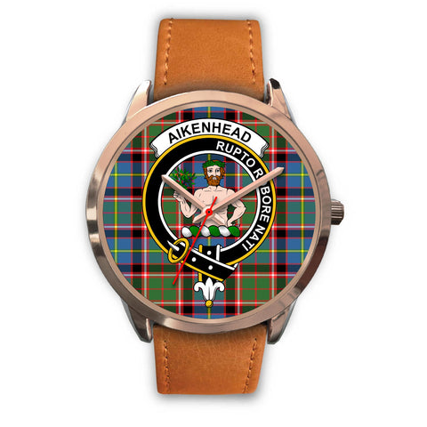 Aikenhead, Pink Leather Watch,  leather steel watch, tartan watch, tartan watches, clan watch, scotland watch, merry christmas, cyber Monday, halloween, black Friday