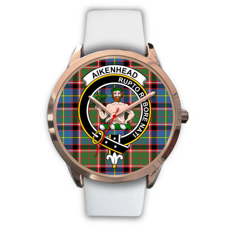 Aikenhead, Black Metal Link Watch,  leather steel watch, tartan watch, tartan watches, clan watch, scotland watch, merry christmas, cyber Monday, halloween, black Friday
