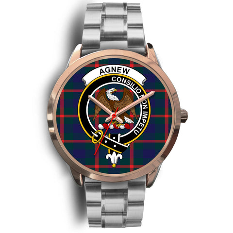 Agnew Modern, Brown Leather Watch,  leather steel watch, tartan watch, tartan watches, clan watch, scotland watch, merry christmas, cyber Monday, halloween, black Friday