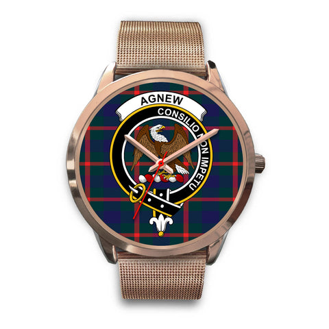 Agnew Modern, Black Leather Watch,  leather steel watch, tartan watch, tartan watches, clan watch, scotland watch, merry christmas, cyber Monday, halloween, black Friday