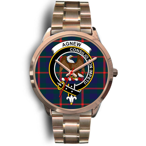 Agnew Modern, Rose Gold Metal Link Watch,  leather steel watch, tartan watch, tartan watches, clan watch, scotland watch, merry christmas, cyber Monday, halloween, black Friday