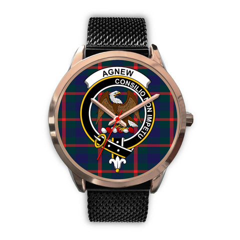 Agnew Modern, Silver Metal Link Watch,  leather steel watch, tartan watch, tartan watches, clan watch, scotland watch, merry christmas, cyber Monday, halloween, black Friday