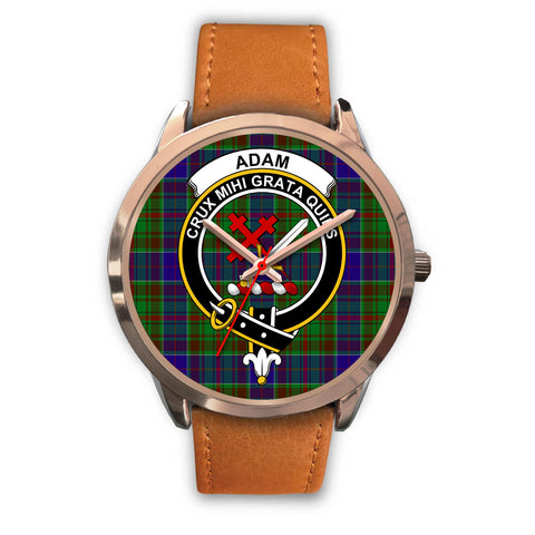 Adam, Pink Leather Watch,  leather steel watch, tartan watch, tartan watches, clan watch, scotland watch, merry christmas, cyber Monday, halloween, black Friday