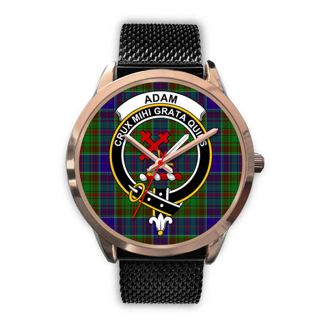 Adam, Silver Metal Link Watch,  leather steel watch, tartan watch, tartan watches, clan watch, scotland watch, merry christmas, cyber Monday, halloween, black Friday
