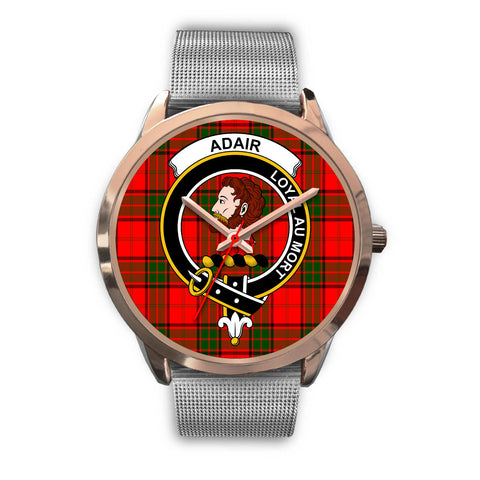 Adair, Rose Gold Metal Link Watch,  leather steel watch, tartan watch, tartan watches, clan watch, scotland watch, merry christmas, cyber Monday, halloween, black Friday