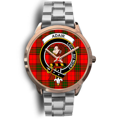 Adair, Brown Leather Watch,  leather steel watch, tartan watch, tartan watches, clan watch, scotland watch, merry christmas, cyber Monday, halloween, black Friday