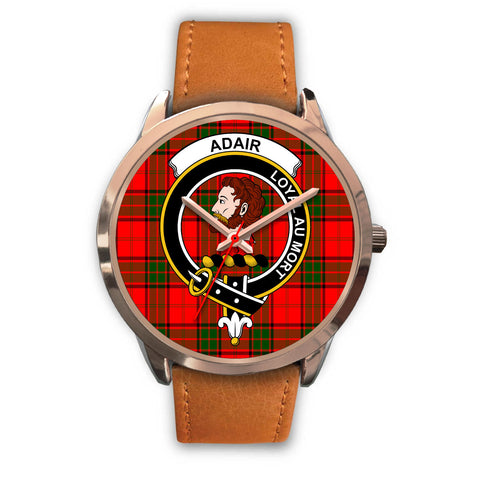 Adair, Pink Leather Watch,  leather steel watch, tartan watch, tartan watches, clan watch, scotland watch, merry christmas, cyber Monday, halloween, black Friday