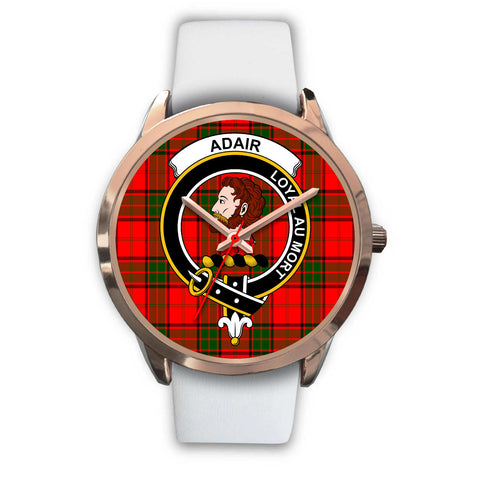 Image of Adair, Black Metal Link Watch,  leather steel watch, tartan watch, tartan watches, clan watch, scotland watch, merry christmas, cyber Monday, halloween, black Friday