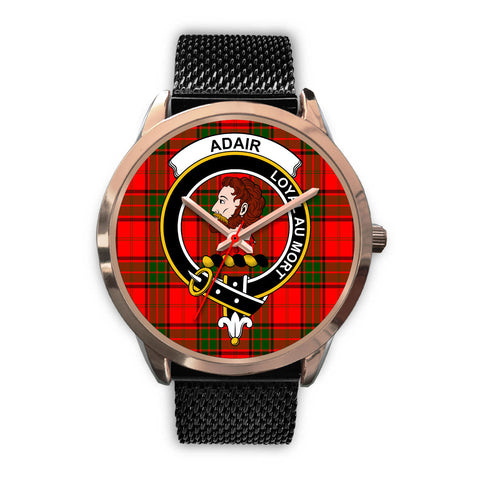 Adair, Silver Metal Link Watch,  leather steel watch, tartan watch, tartan watches, clan watch, scotland watch, merry christmas, cyber Monday, halloween, black Friday