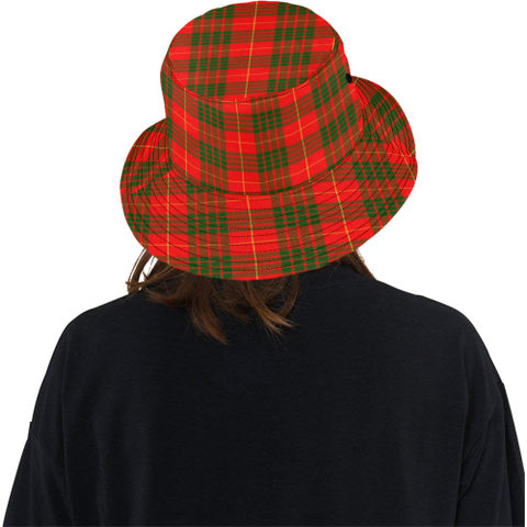 Cameron Modern Tartan Bucket Hat for Women and Men K7
