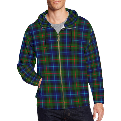 Smith Modern Tartan Zipped Hoodie | Special Custom Products