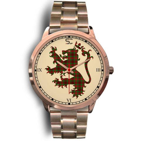 Ainslie Tartan Lion Rose Gold Watch