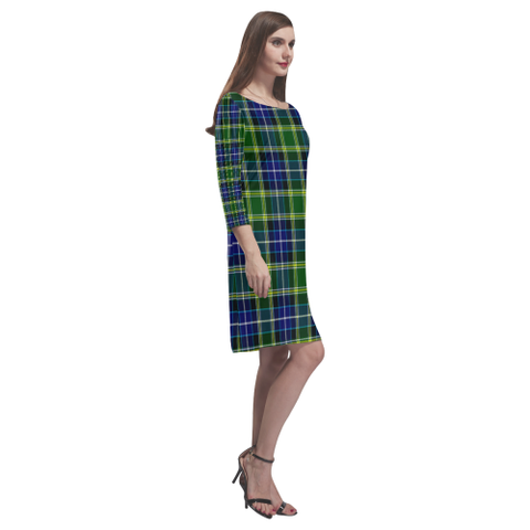 Mackellar Tartan Dress - Rhea Loose Round Neck Dress TH8