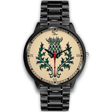 Urquhart Broad Red Ancient Tartan Thistle Black Watch