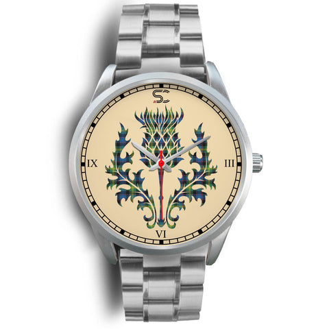 Image of Watson Ancient Tartan Thistle Silver Watch