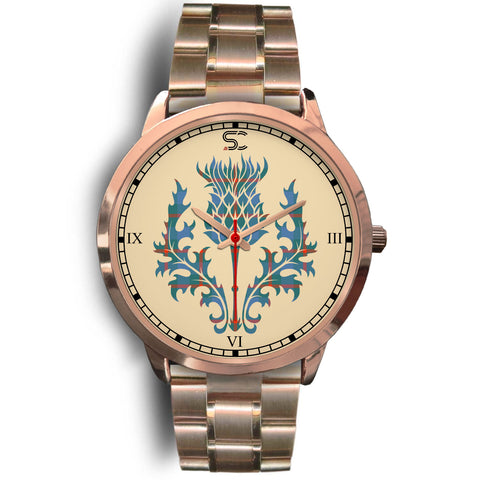 Agnew Ancient Tartan Thistle Rose Gold Watch