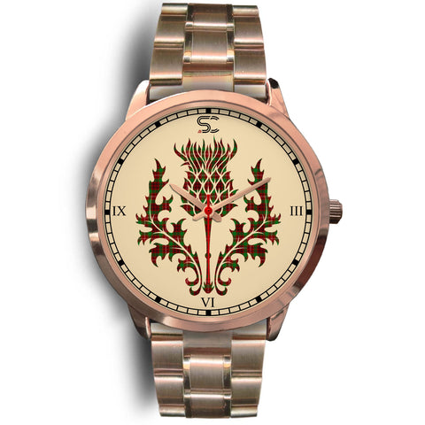 Image of Ainslie Tartan Thistle Rose Gold Watch